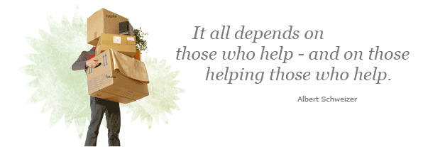 It all depends on those who help - and on those helping those who help.